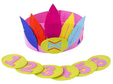 Accessoires, Accessoires - Felt Crown With Seperate Numbers Pink