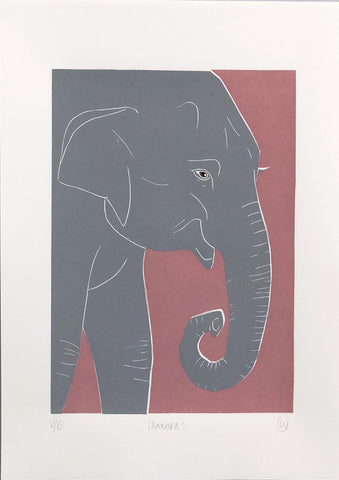 Linostudio Print ,Chandra the Elefant' Linostudio | Zirkuss
