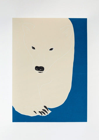 Linostudio Print ,Ferdinand the Polarbear' Linostudio | Zirkuss