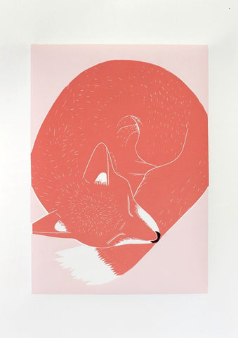 Linostudio Print ,Gustavo the Fox' Linostudio | Zirkuss