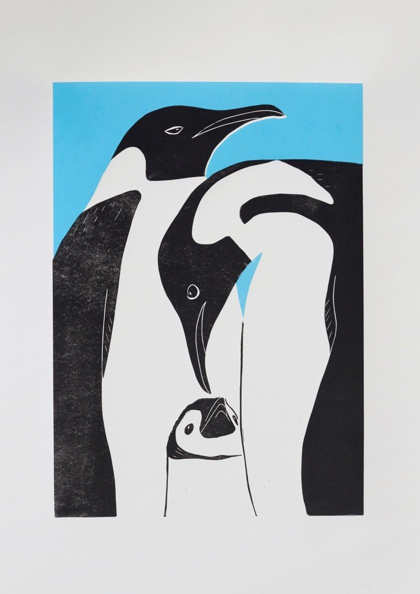 Linostudio Print Pinguins ,Hugo Mom and Dad' Linostudio | Zirkuss