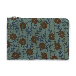 Pochette Quilted Flowers Kaki Highland - Zirkuss