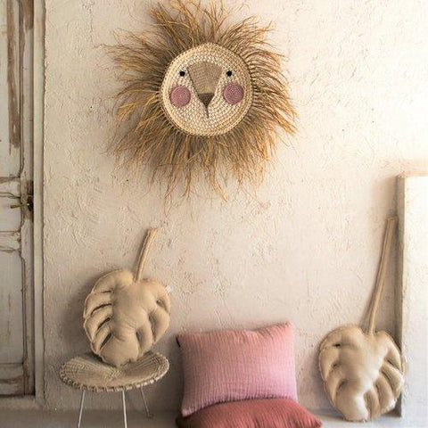 Wall Deco Lion Crochet Big Pink - Zirkuss