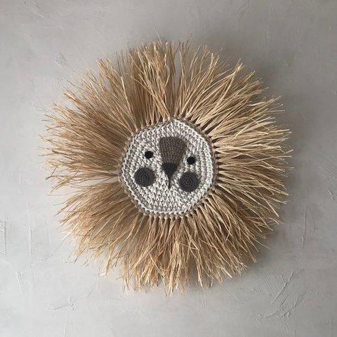 Wall Deco Lion Crochet Small - Zirkuss