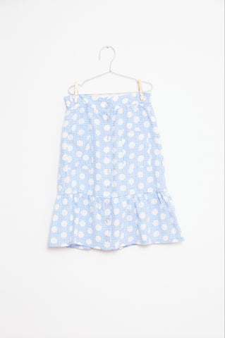 Skirt Women Dots Blue - Zirkuss