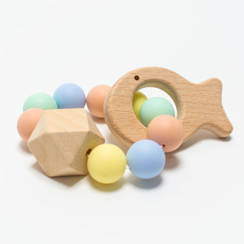 Baby Teether Fish Multi Mini Fabrik | Zirkuss