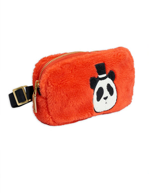 Faux Fur Bum Bag Red Mini Rodini | Zirkuss