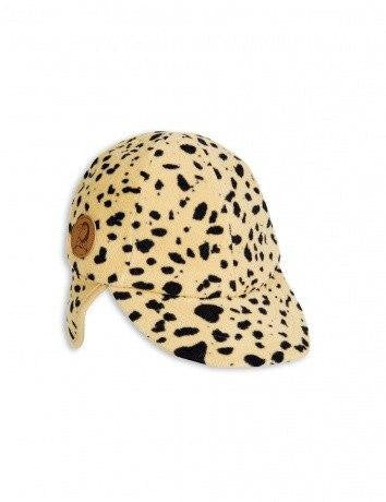 Cap - Mini Rodini Cap Fleece Spot Beige