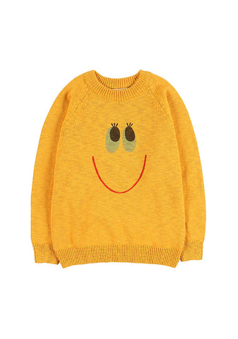 Smile Cotton Sweater Yellow Jelly Mallow | Zirkuss