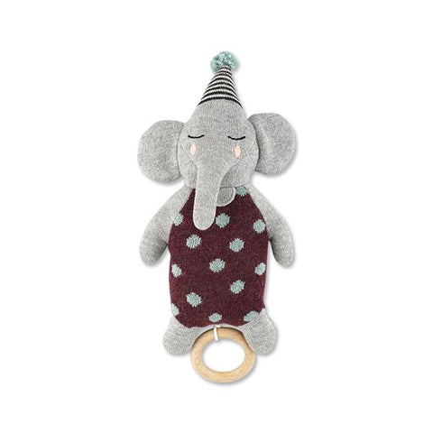 Musical Pull Toy Elephant with Hat Ava & Yves | Zirkuss