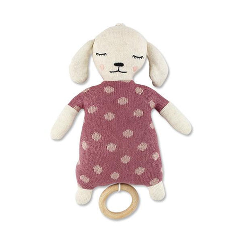 Musical Pull Toy Lamb Rose - Zirkuss