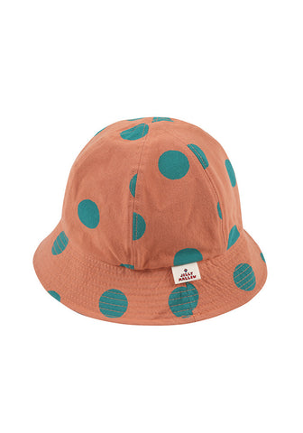 Reversible Bucket Hat Brown & Brick Red Jelly Mallow | Zirkuss