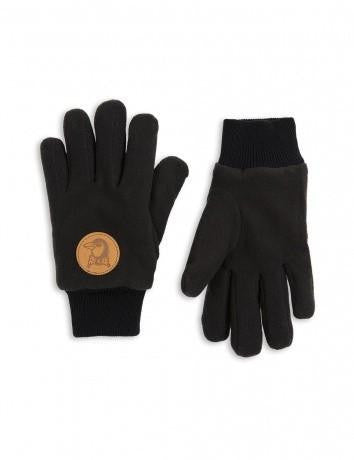 Glove Fleece Black Mini Rodini | Zirkuss