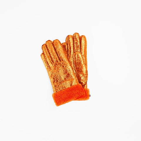 Gloves Metallic Orange Toasties | Zirkuss