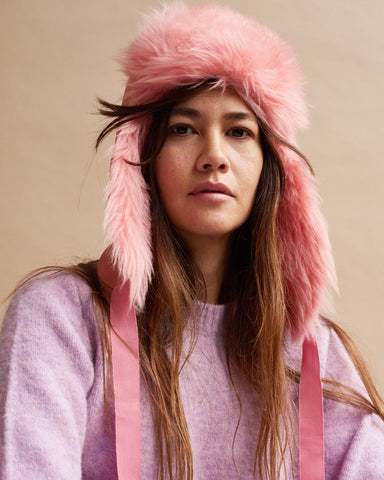 Hats - Aviator Hat Woman Pink