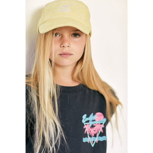 Soft Pale Yellow Cord Cap Finger in the nose | Zirkuss