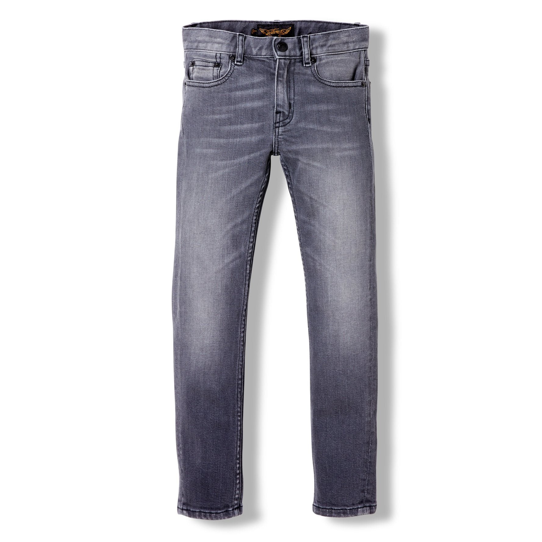 Icon Slim Fit Jeans Grey Denim Finger in the nose | Zirkuss