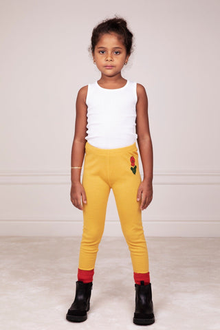 Viola Wool Leggings Yellow Mini Rodini | Zirkuss