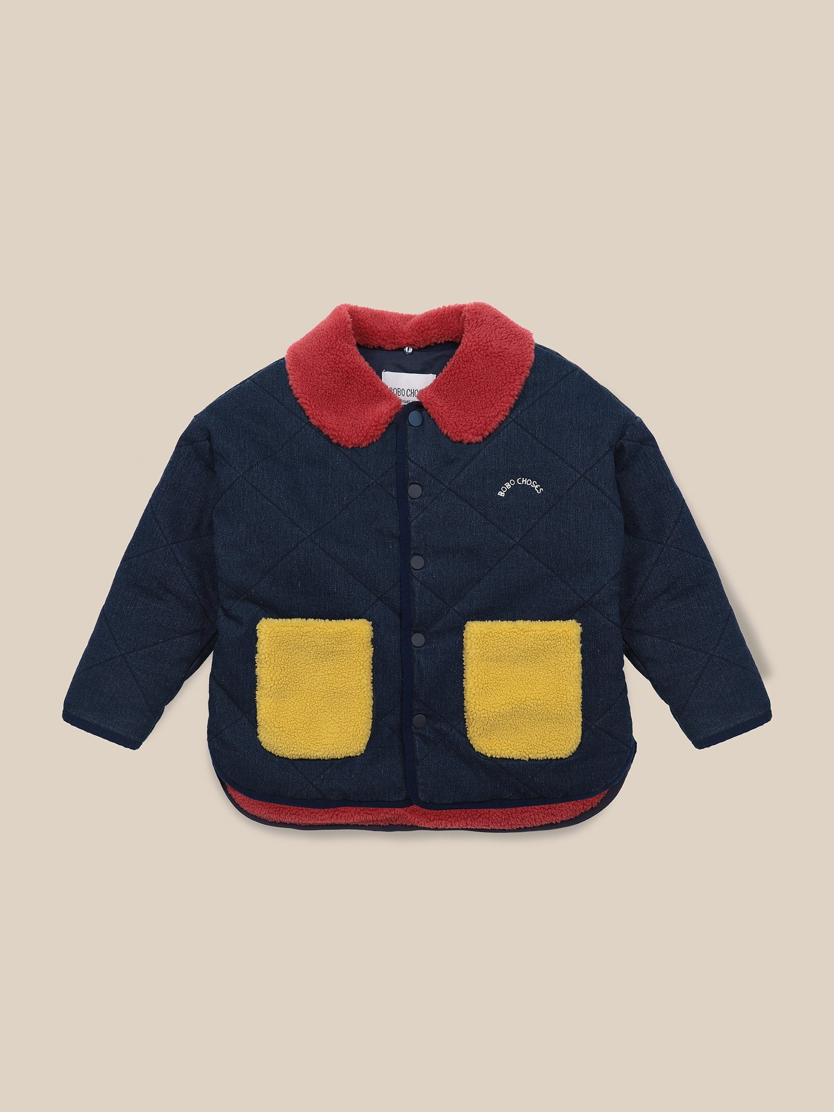 Bobo Choses Multicolor Quilted Jacket Grape Compote - Zirkuss