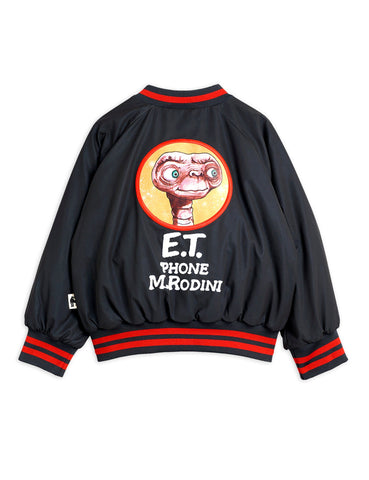 E.T Reflective Baseball Jacket Black Mini Rodini | Zirkuss