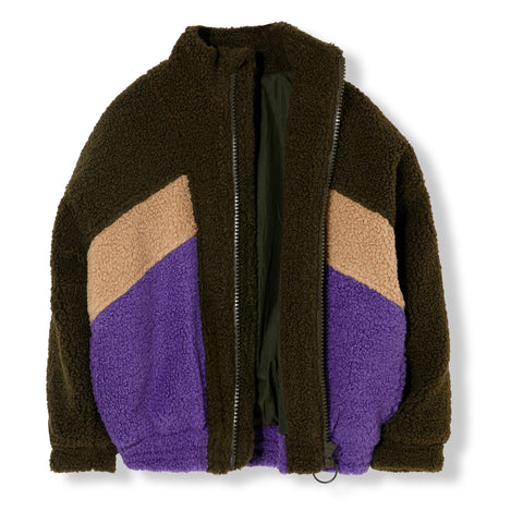 Eighty Knitted Tracksuit Jacket Sherpa - Zirkuss