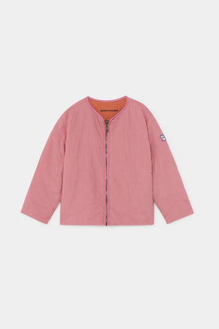 Reversible Bird Embroidery Quilted Jacket Heather Rose - Zirkuss