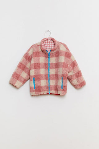 Reversible Jacket Pink/Ecru Fish & Kids | Zirkuss
