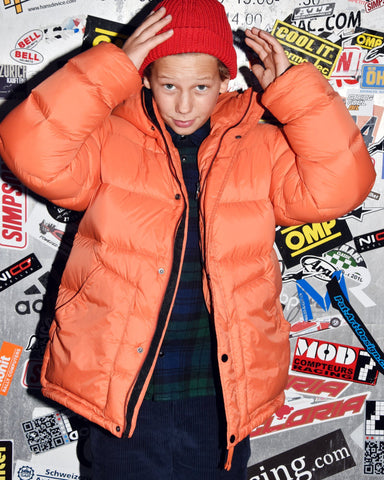 Jackets - Snowflow Woven Down Jacket Tangerine