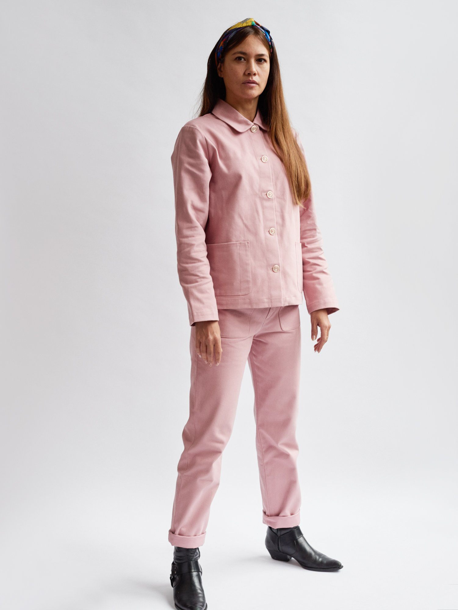 Woman Work Jacket Rose Colchik | Zirkuss