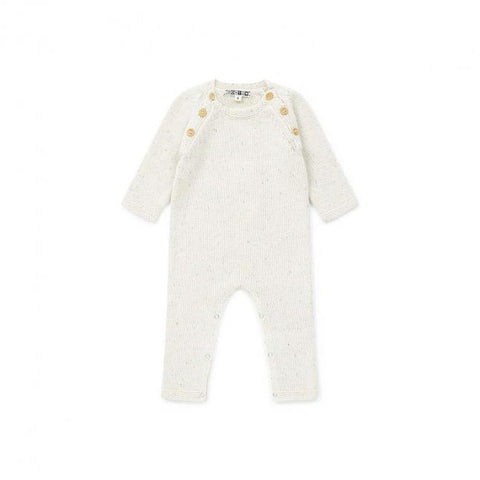 Baby Jumpsuit Pearly White BonTon | Zirkuss