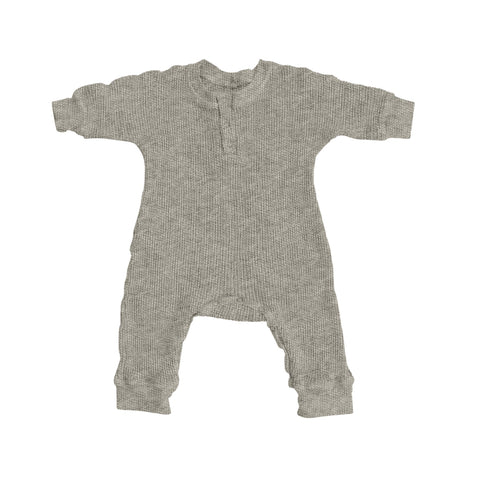 Ines Baby Fleece Romper Heather Nico Nico | Zirkuss
