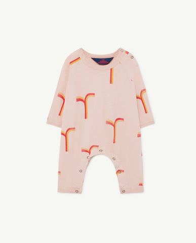 Owl Baby Pyjama Rose Geometric The Animals Observatory | Zirkuss