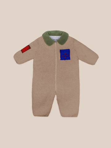 Sheepskin Bobo Baby Overall Brown Rice - Zirkuss