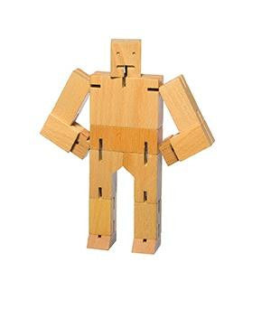 Jungen, Boys - Areaware Cubebot Medium Natur