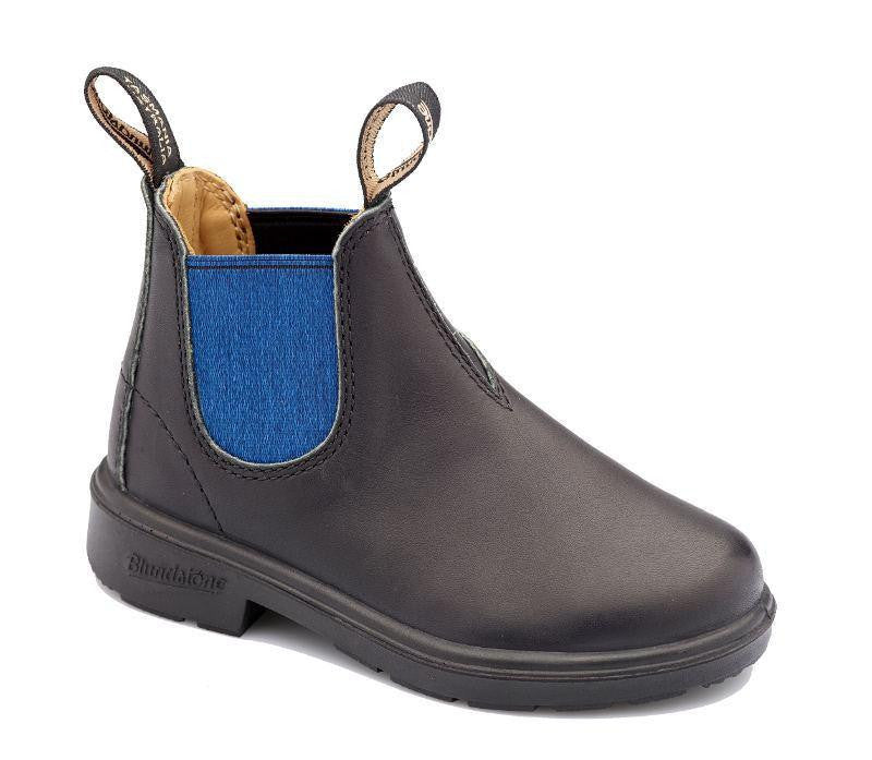 Blundstone Shoes Leather KIDS Black/Blue Blundstone | Zirkuss