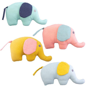 Elephants Linen with Rattle Assorted - Zirkuss