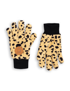 Gloves Fleece Spot Beige Mini Rodini | Zirkuss