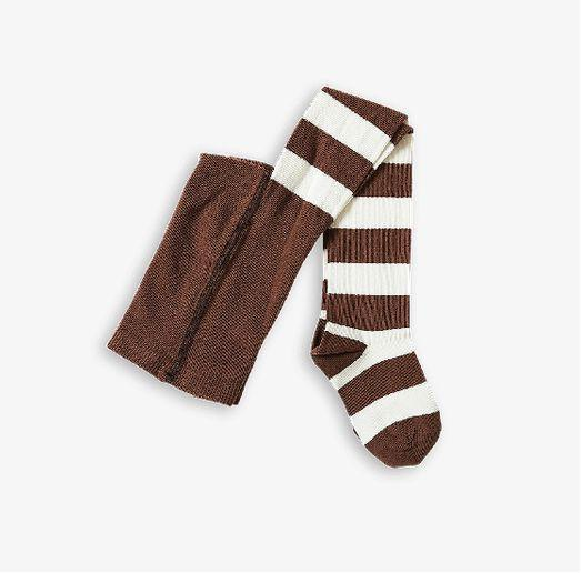 Jungen, Boys - Mini Rodini Tights Stripe Brown