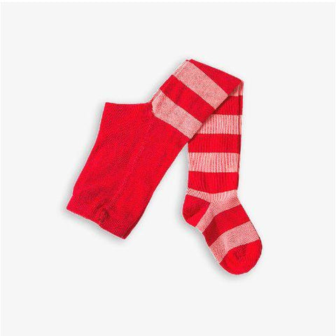 Jungen, Boys - Mini Rodini Tights Stripe Red