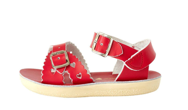 Jungen, Boys - Saltwater Sandals Sweetheart Kids Red