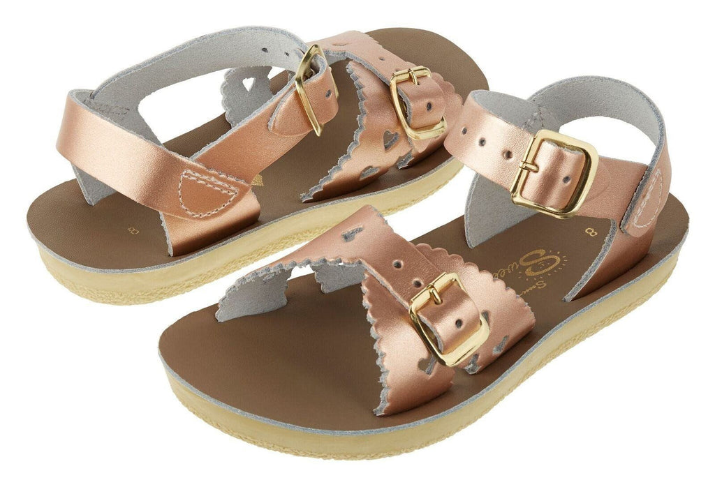 Jungen, Boys - Saltwater Sandals Sweetheart Kids Rose Gold