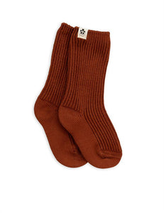 Socks Wool Brown Mini Rodini | Zirkuss