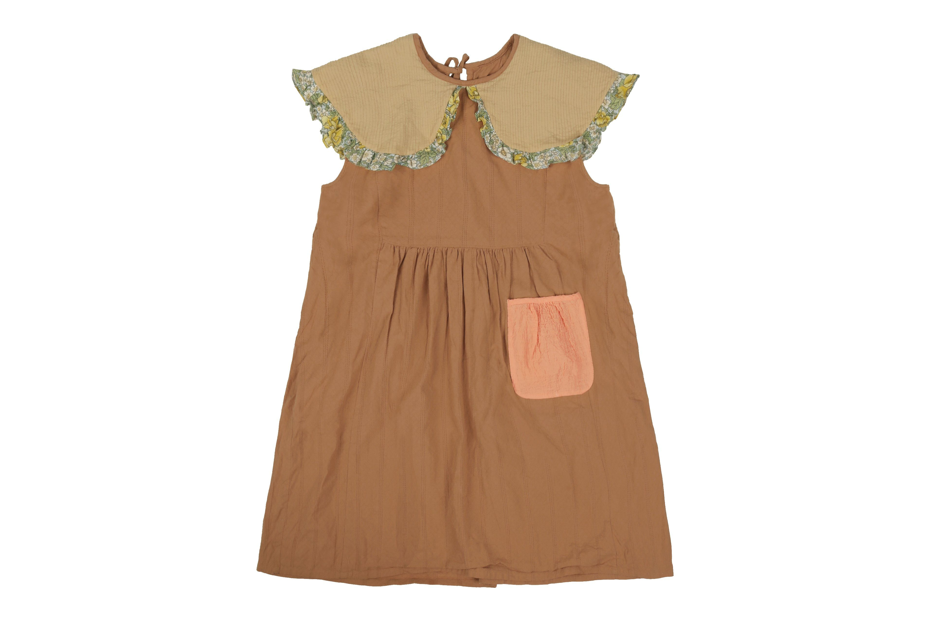 Kleid, Dress - Brown Kids Dress