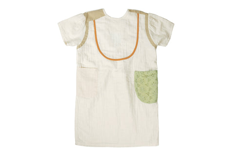 Cream Kids Dress Tambere | Zirkuss