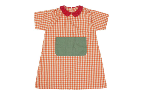 Kleid, Dress - Orange Kids Dress
