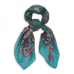 Kleid, Dress - Scarf Silk Green Emeralde