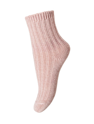 Mädchen, Girls - Ankle Socks Atlas Wool/Cotton Rose