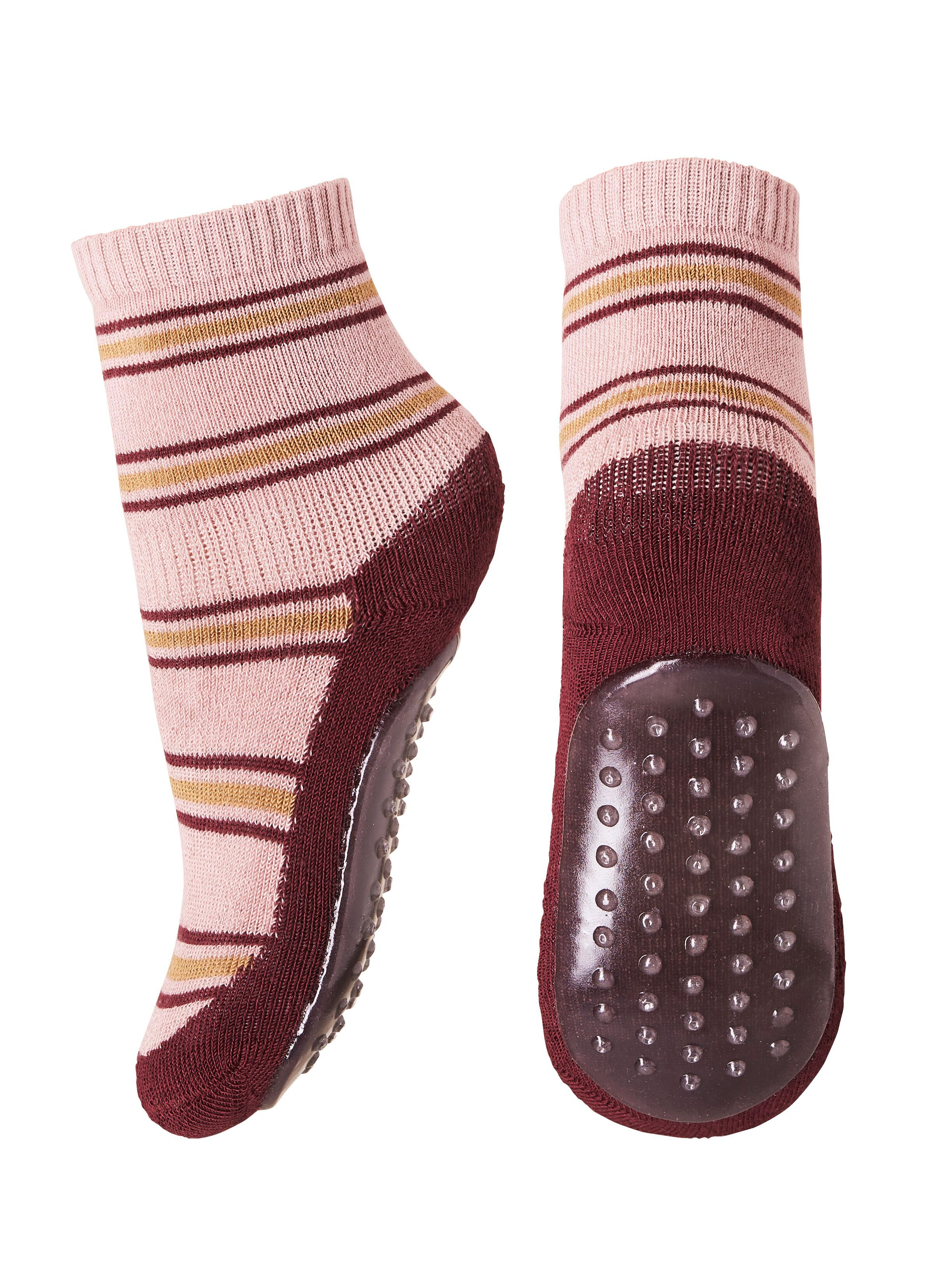 Ankle Socks Kyoto Terry/Sole Striped Rose - Zirkuss