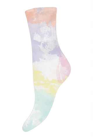 Ankle Socks Light Blue tie dye Women - Zirkuss