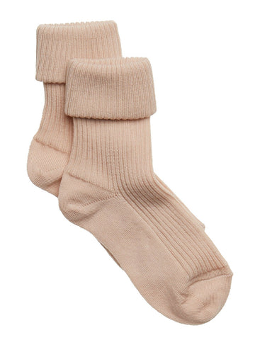 Mädchen, Girls - Ankle Socks Wool Rib Turn Down 589 201